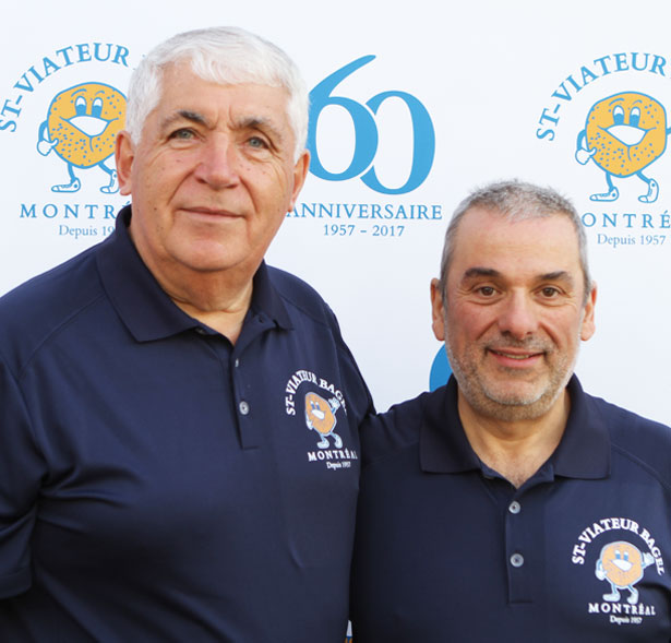 St-Viateur Bagel Shop owners Joe Morena and Marco Sblano